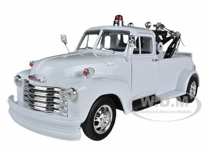 1953 Chevrolet 3800 Tow Truck Plain White 1/24 Diecast Model Car By Welly 22086