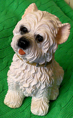 "West Highland Cairn Terrier Dog Resin Figurine 6"" Collectible Westie Shih Tzu"