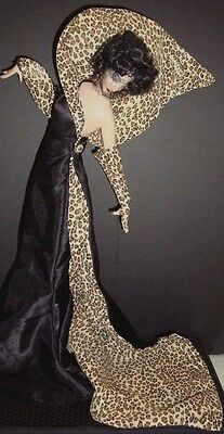 Vintage Franklin Mint Heirloom Collector Doll Erte Panther Doll W/box & Tag