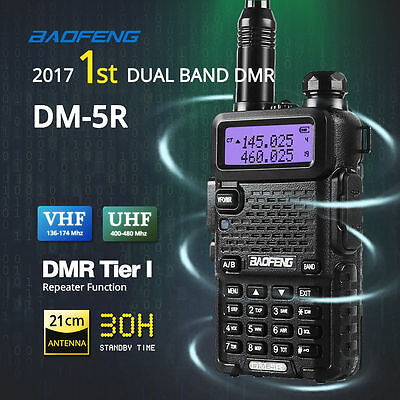 UK Stock Baofeng DM-5R DMR Digital Radio Dual Band V/UHF Walkie Talkie Tier 1