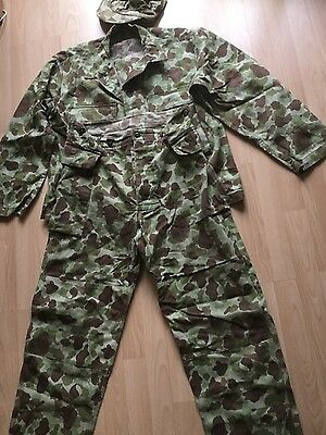 Repro Ww2 Us Army P42 Hbt Utility Jacket & Trousers And Cap