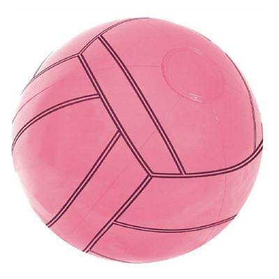 Inflatable Blow Up Pink Soccer Beach Ball Holiday Party Swimming Garden Toy Game