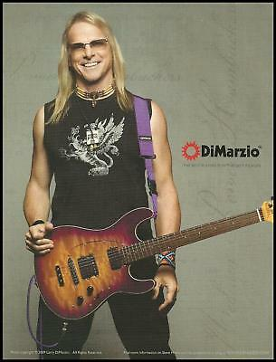 Steve Morse Ernie Ball Music Man guitar with DiMarzio pickups 8 x 11 ad print