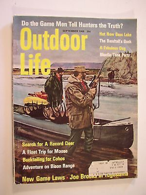1969 Outdoor Life Hunting Fishing Magazine Sept 1969 Elk Charging Good Condition