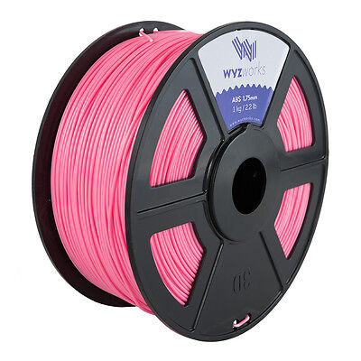 WYZwork 3D Printer Premium ABS Filament 1.75mm 1kg/2.2lb - Pink