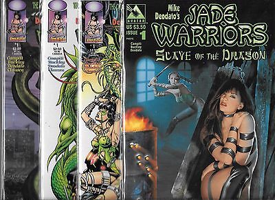 Jade Warriors #1 Lot Of 4 - 3 Different Image #1's & #1 Slave Of The Dragon (Nm-