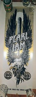 Pearl jam poster. Ken taylor Wrigley field. Chicago