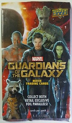 Marvels THE GUARDIANS OF THE GALAXY  sealed Card Pack x 9