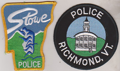 Richmond & Stowe Police VT patches