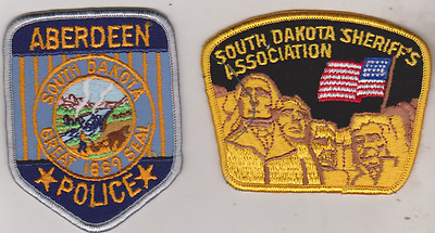 Aberdeen SD Police & SD Sheriff's Association patches