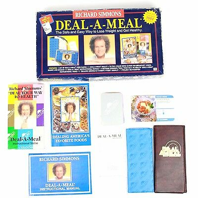 Richard Simmons Deal a Meal Set 1994 As Seen on TV Complete Weight Loss Program