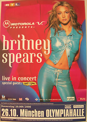 Britney Spears Concert Tour Poster 2000 Opp's I Did It Again