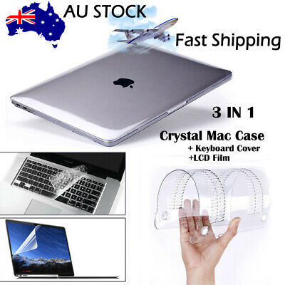 "2018 A1932 MacBook Air 11 Pro 13/15"" Glossy Clear Hard Shell Case Keyboard Cover"