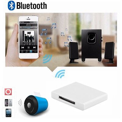 30 Pin Bluetooth A2DP Musik Audio Dock Empfänger Adapter für iPod iPhone