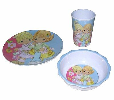 PRECIOUS MOMENTS Girlfriends Plate Bowl Cup 3pcs Dinnerware Set NEW