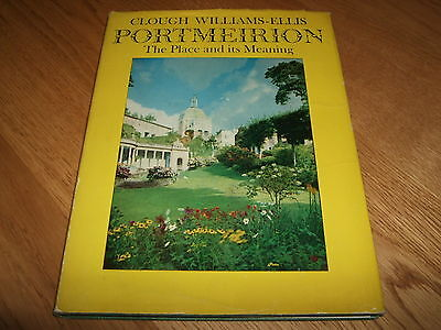 Clough Williams Ellis-Portmeirion-Place & Meaning-Signed-1St-1963-Vg-Very Rare