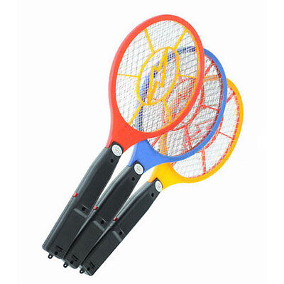 LED Rechargeable Electric Bug Pest Fly Mosquito Killer Swatter Zapper Racket Hot