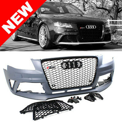 09 12 Audi A4 S4 B8 Rs4 Style Front Bumper Conversion Kit W Gloss