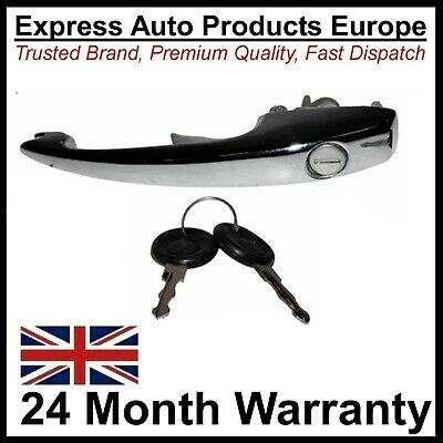Chrome Door Handle Left or RIGHT & Keys VW T1 Beetle 1968 on & 1302 & 1303