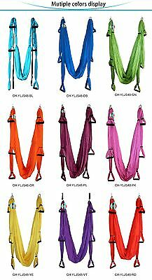 2.5x1.5m Aerial Yoga Swing Flying Hammock Trapeze Fitness Pilate Gym 9 Colors