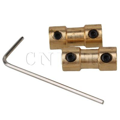 2pcs 4mm to 4mm Brass Joint RC Aircraft Motor Shaft Coupling Adapter Connector