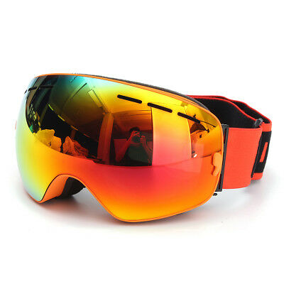 COPOZZ UV400 Spherical Dual-layer Lens Snowboard Glasses Anti-fog Skiing Goggles