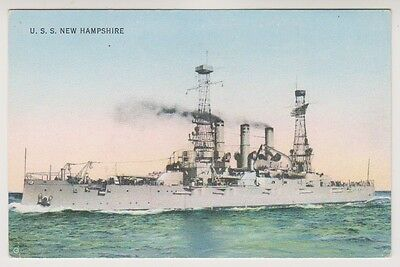 Shipping postcard - U.S.S New Hampshire