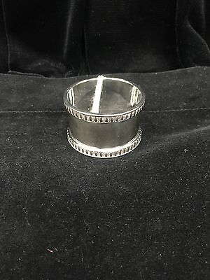 Francis Howard Silver Plated Napkin Ring with decorative grooved edges
