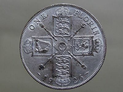 1926 Silver Florin - Nice Coin, Scarce Date - FREE POSTAGE (G33)