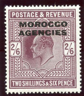 Morocco Agencies 1913 KGV 2s 6d dull purple (Somerset House Ptg) MLH. SG 41.