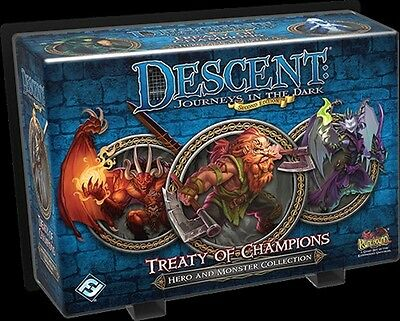 Descent Board Game: Treaty Of Champions Hero And Monster Collection
