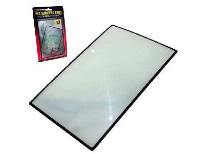 NEW PVC Magnifier Sheet X3 180X120mm Book Page Magnifying Glass Easy Page Read