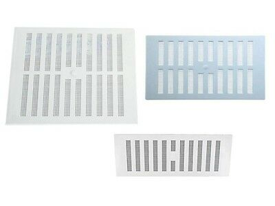 WHITE HIT AND Miss Air Vent Grill Cover Ventilation Brick Fly Grille 9X3  9X6 9X9