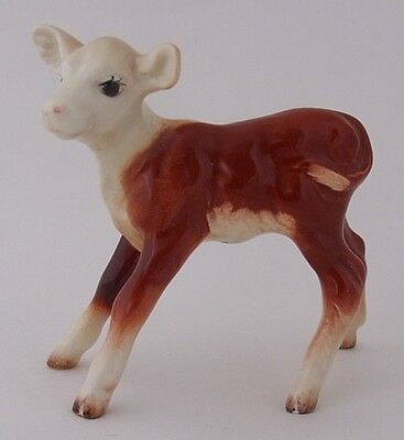 Vintage Early Beswick Hereford Calf Cattle Figure - Model Number 901B