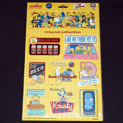 The Simpsons magnet collection sheet of 9 magnets in one Official Licensed