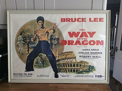 Bruce Lee The Way Of The Dragon Original Movie Poster 1060x760mm Rare Investment