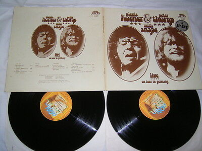 2 LP - Alexis Korner & Peter Thorup With Snape Live On Tour In Germany # cleaned