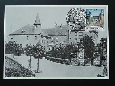 castle of Differdange maximum card Luxembourg 1989
