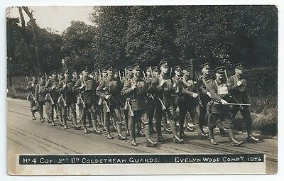 Coldstream Guards 2nd Battalion No.4 Coy MARCHING Unused RP PC 1926