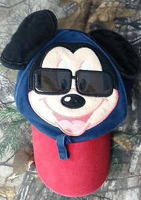 d66a509955f DISNEY PARKS MICKEY Mouse Baseball Cap Hat Toddler Size Ears Wearing ...