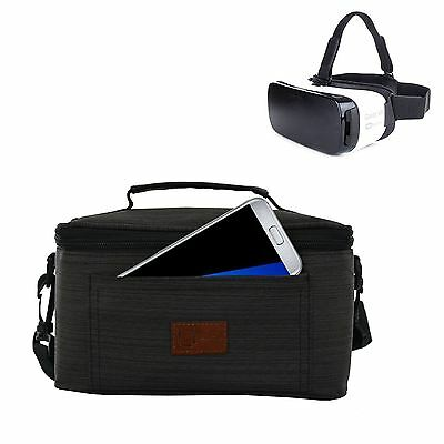 New Dark Grey Travel Portable Case Cover Pouch Bag For Samsung Gear Vr Oculus