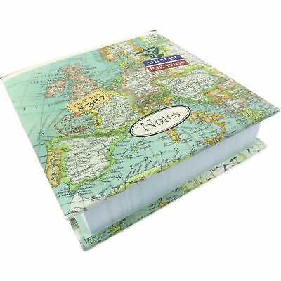 Vintage Map Large Memo Block Note Paper Pad Phone Office Gift Cartography Father