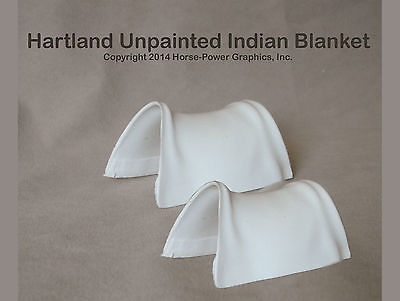 HARTLAND Steven Horse & Rider  set of 2 Unpainted Plastic INDIAN SADDLE BLANKETS