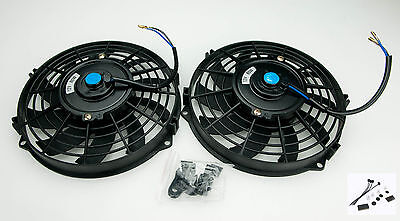 "2 x 9"" Electric Radiator  Fan Sierra Escort Cosworth Straight 5480A With Fitting"