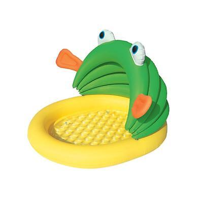 Piscine gonflable enfant Bestway Fish and me 1.07 m Jaune 80530 - Neuf