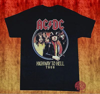 New AC/DC Highway to Hell 1979 Tour Mens Vintage Classic T-Shirt