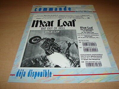 Meat Loaf Bat Out Of Hell!!!!!!!!!rare French Press/kit