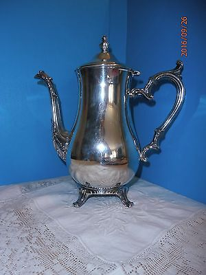 Rogers Silver Plate Teapot 6 Cup Footed Wm Rogers 800 Silverplate
