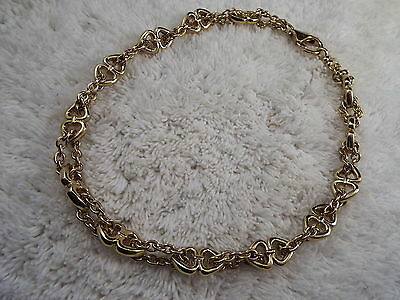 Goldtone Anchor Link Chain Necklace (A43)