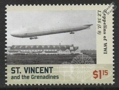 WWI Luftschiff Zeppelin LZ.36 (L.9) O-Class German Airship Stamp